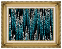 Lora Ashley Cascading Pearls canvas with gallery gold wood frame