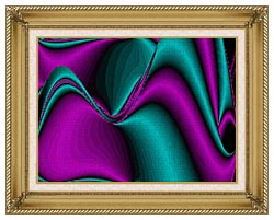 Lora Ashley Blocked Curves canvas with gallery gold wood frame