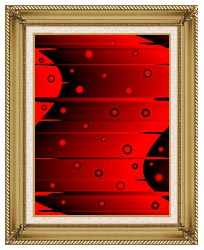 Lora Ashley Balance Red And Black canvas with gallery gold wood frame
