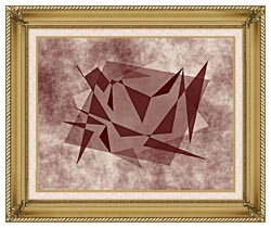 Lora Ashley Fragments Unite Brown And Tan canvas with gallery gold wood frame