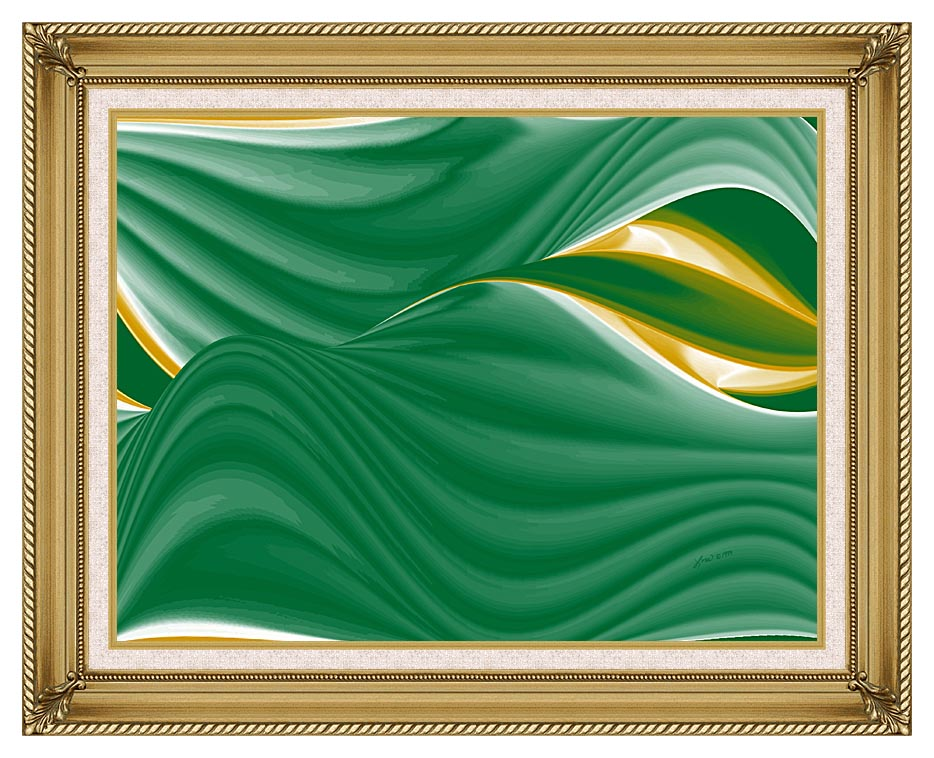 Lora Ashley Spring Leaves with Gallery Gold Frame w/Liner