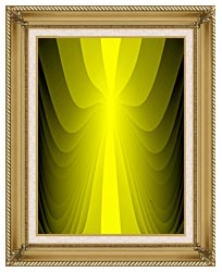 Lora Ashley Lemon Slide canvas with gallery gold wood frame