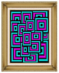 Lora Ashley Data Overload canvas with gallery gold wood frame