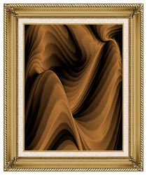 Lora Ashley Chocolate River canvas with gallery gold wood frame