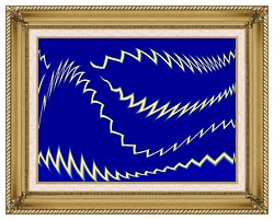 Lora Ashley Lightning canvas with gallery gold wood frame