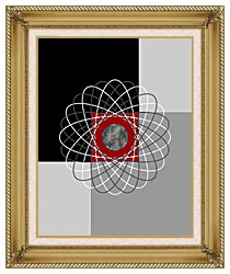Lora Ashley Nucleus canvas with gallery gold wood frame