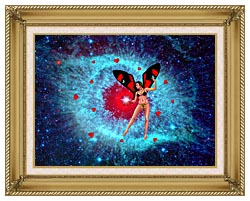 Lora Ashley Fairy Of Hearts canvas with gallery gold wood frame