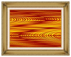 Lora Ashley Red And Yellow Slide canvas with gallery gold wood frame