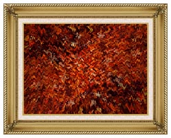 Lora Ashley Autumn Abstract Tapestry canvas with gallery gold wood frame