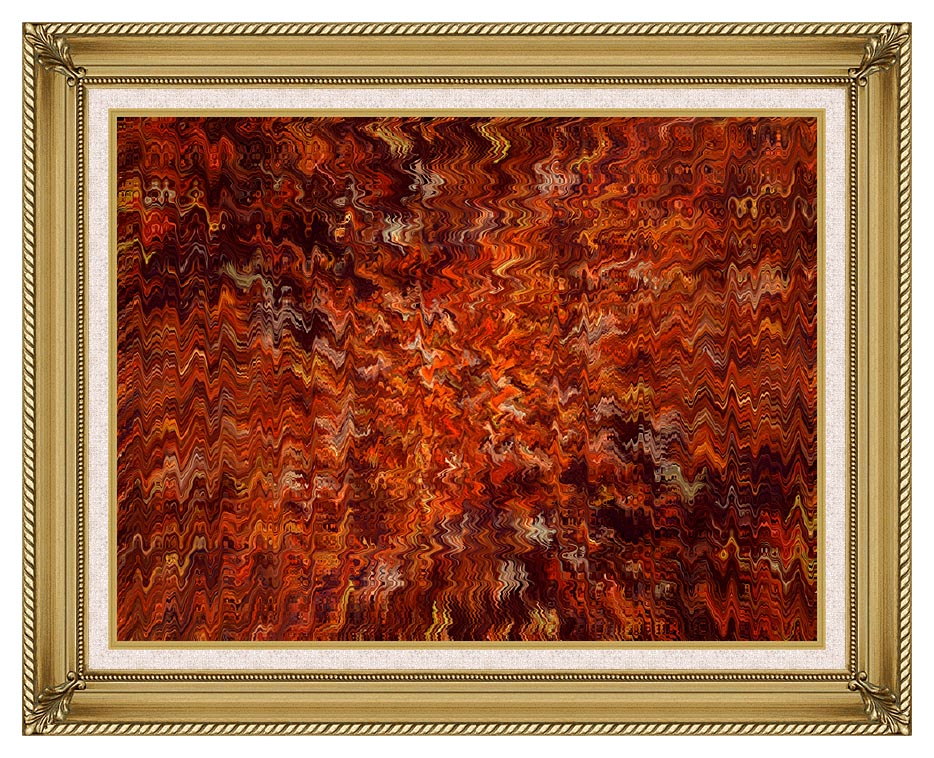 Lora Ashley Autumn Abstract Tapestry with Gallery Gold Frame w/Liner