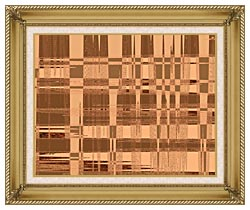 Lora Ashley Contemporary Tan Tapestry canvas with gallery gold wood frame