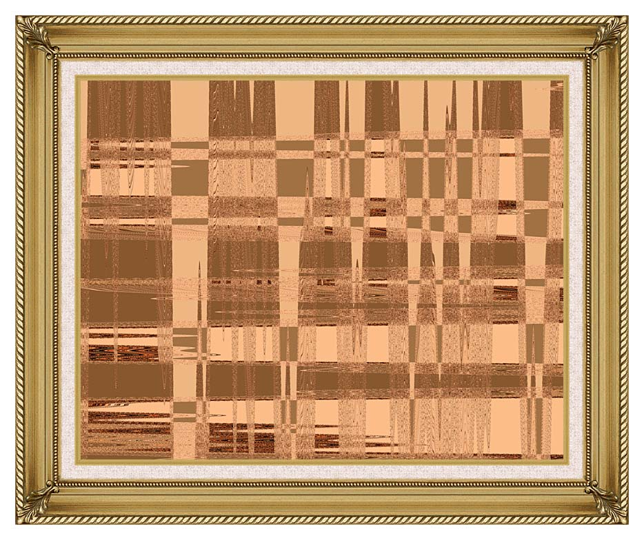 Lora Ashley Contemporary Tan Tapestry with Gallery Gold Frame w/Liner