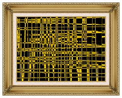 Lora Ashley Contemporary Yellow Abstract canvas with gallery gold wood frame