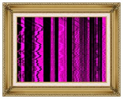 Lora Ashley Contemporary Magenta Abstract canvas with gallery gold wood frame