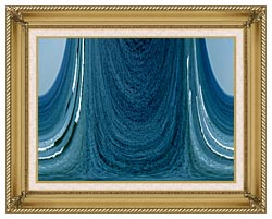 Lora Ashley Contemporary Water World canvas with gallery gold wood frame