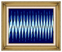Lora Ashley High Voltage Abstract canvas with gallery gold wood frame