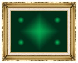 Lora Ashley Green Contemporary canvas with gallery gold wood frame