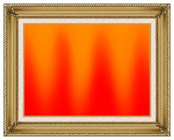 Lora Ashley Red And Orange Contemporary canvas with gallery gold wood frame