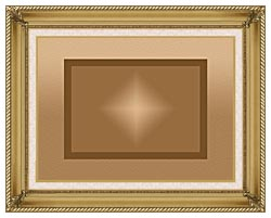 Lora Ashley Brown And Tan Modern canvas with gallery gold wood frame