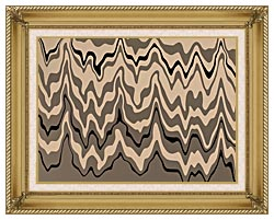 Lora Ashley Modern Black And Tan canvas with gallery gold wood frame