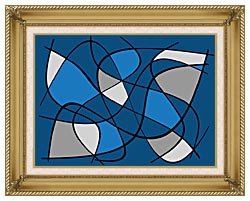 Lora Ashley Contemporary canvas with gallery gold wood frame