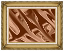 Lora Ashley Chocolate canvas with gallery gold wood frame