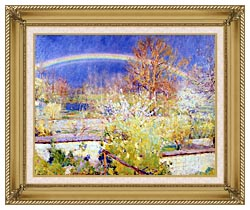 William Blair Bruce The Rainbow canvas with gallery gold wood frame