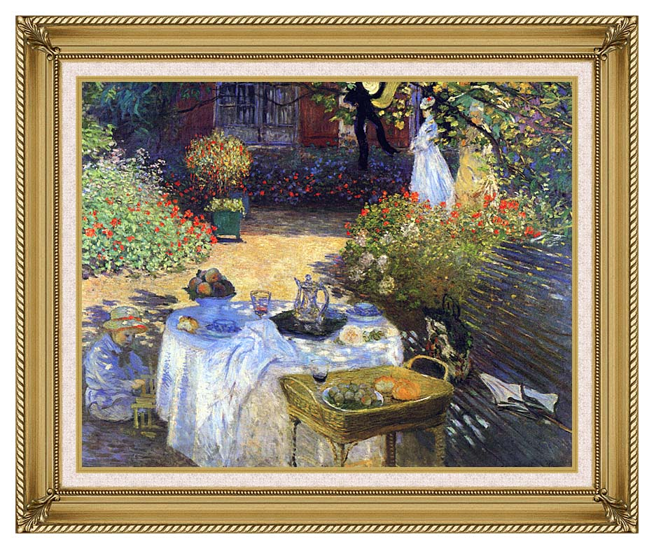 Claude Monet Le Dejeuner with Gallery Gold Frame w/Liner