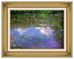 Claude Monet The Cloud canvas with gallery gold wood frame