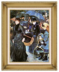 Pierre Auguste Renoir The Umbrellas canvas with gallery gold wood frame