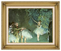 Edgar Degas Ballet Rehearsal canvas with gallery gold wood frame