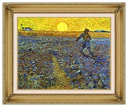 Vincent Van Gogh The Sower canvas with gallery gold wood frame