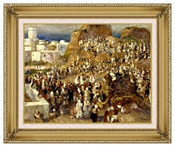 Pierre Auguste Renoir The Mosque Algiers canvas with gallery gold wood frame