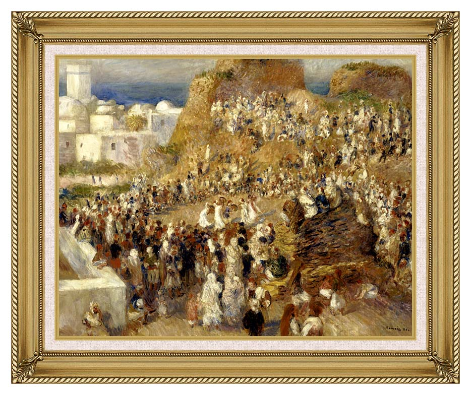 Pierre Auguste Renoir The Mosque, Algiers with Gallery Gold Frame w/Liner