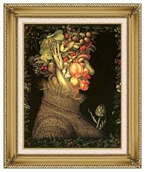 Giuseppe Arcimboldo Summer canvas with gallery gold wood frame