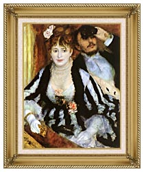 Pierre Auguste Renoir La Loge canvas with gallery gold wood frame