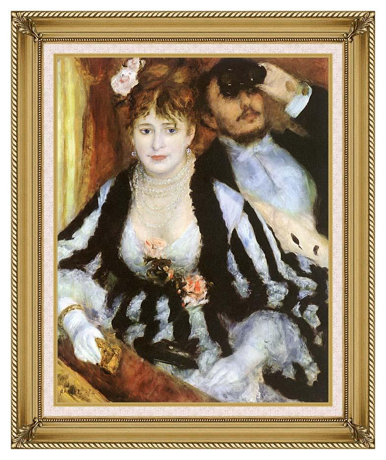 Pierre Auguste Renoir La Loge with Gallery Gold Frame w/Liner