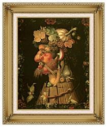 Giuseppe Arcimboldo Autumn canvas with gallery gold wood frame