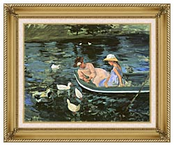 Mary Cassatt Summertime canvas with gallery gold wood frame