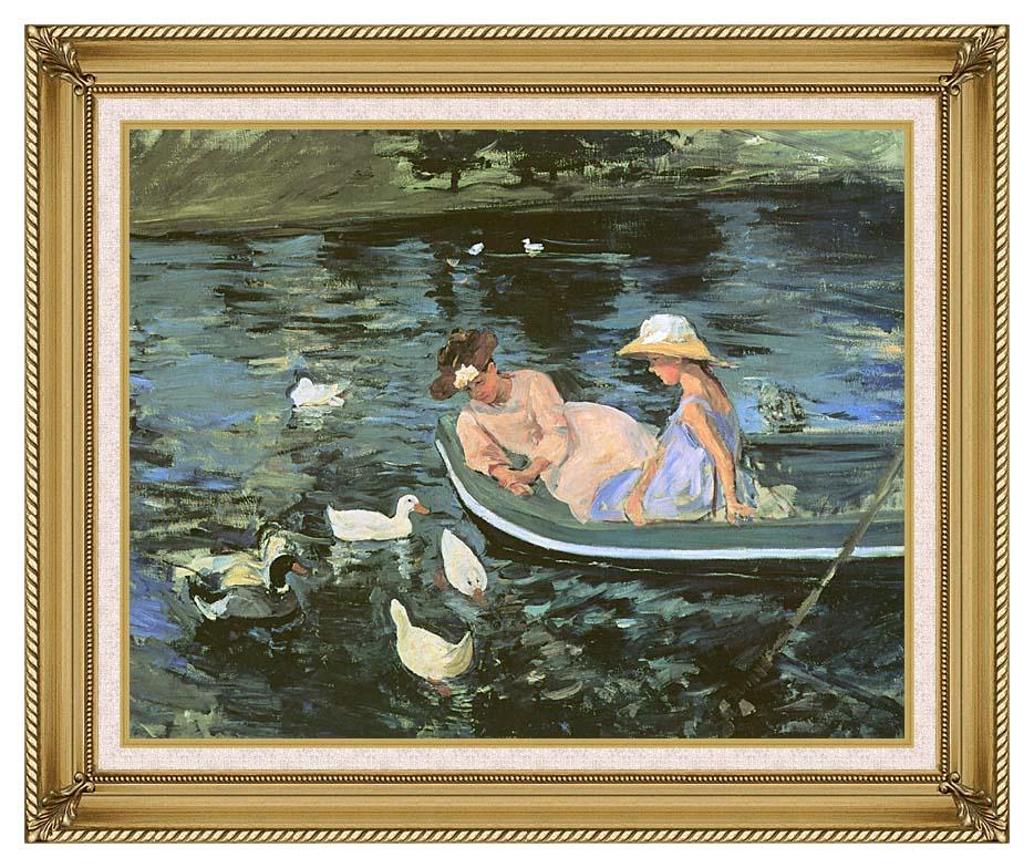 Mary Cassatt Summertime with Gallery Gold Frame w/Liner