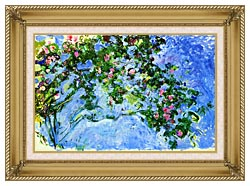 Claude Monet The Roses canvas with gallery gold wood frame