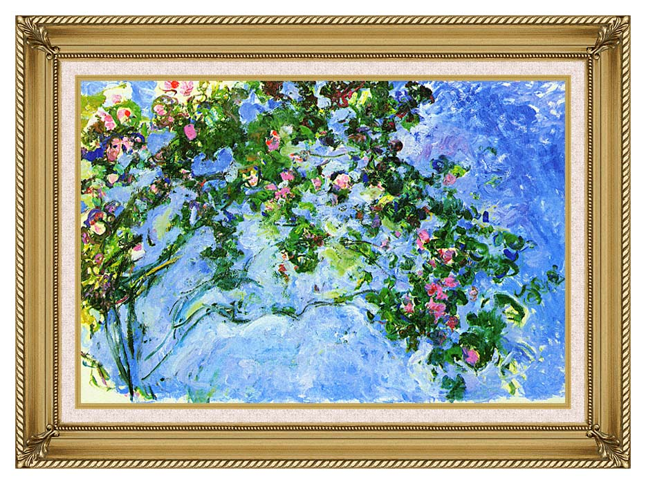 Claude Monet The Roses with Gallery Gold Frame w/Liner