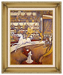 Georges Seurat The Circus canvas with gallery gold wood frame