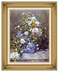 Pierre Auguste Renoir Spring Bouquet canvas with gallery gold wood frame
