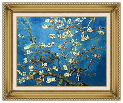 Vincent Van Gogh Almond Blossom canvas with gallery gold wood frame