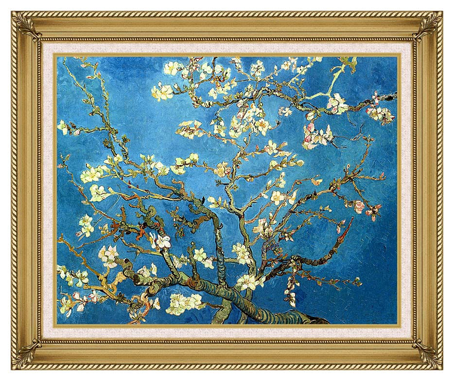 Vincent van Gogh Almond Blossom with Gallery Gold Frame w/Liner