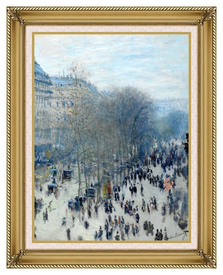 Claude Monet Boulevard des Capucines with Gallery Gold Frame w/Liner