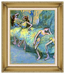 Edgar Degas Ballet Dancers In The Wings canvas with gallery gold wood frame