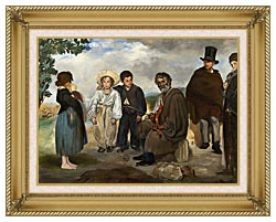 Edouard Manet The Old Musician canvas with gallery gold wood frame