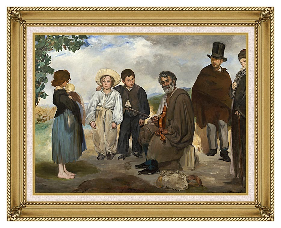 Edouard Manet The Old Musician with Gallery Gold Frame w/Liner